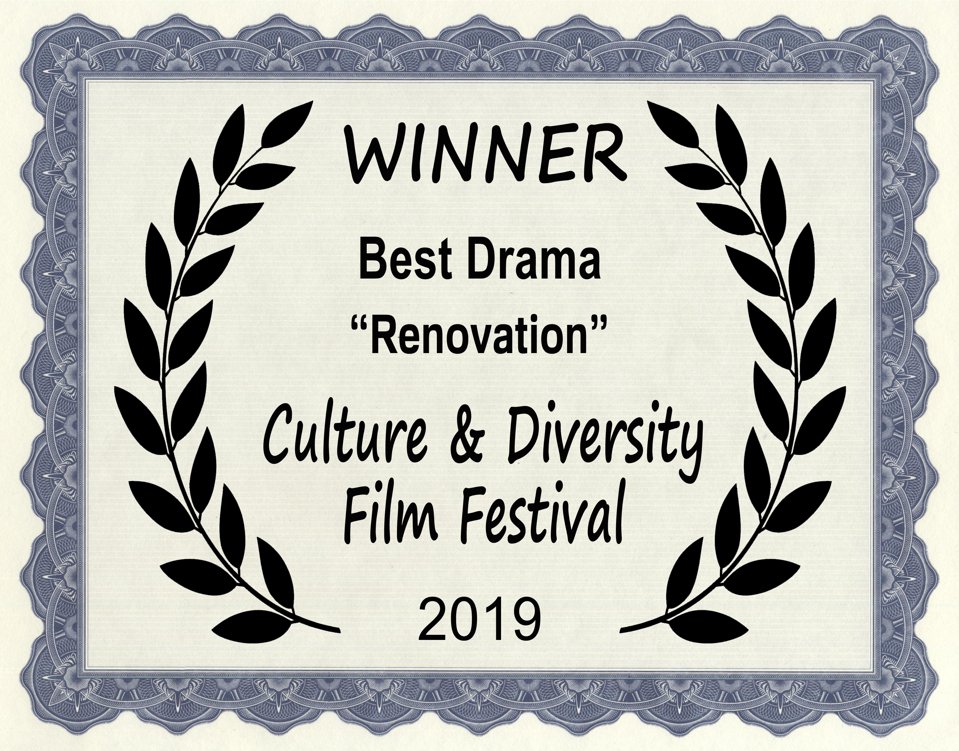 Best Drama at Culture & Diversity Film Festival in Hollywood