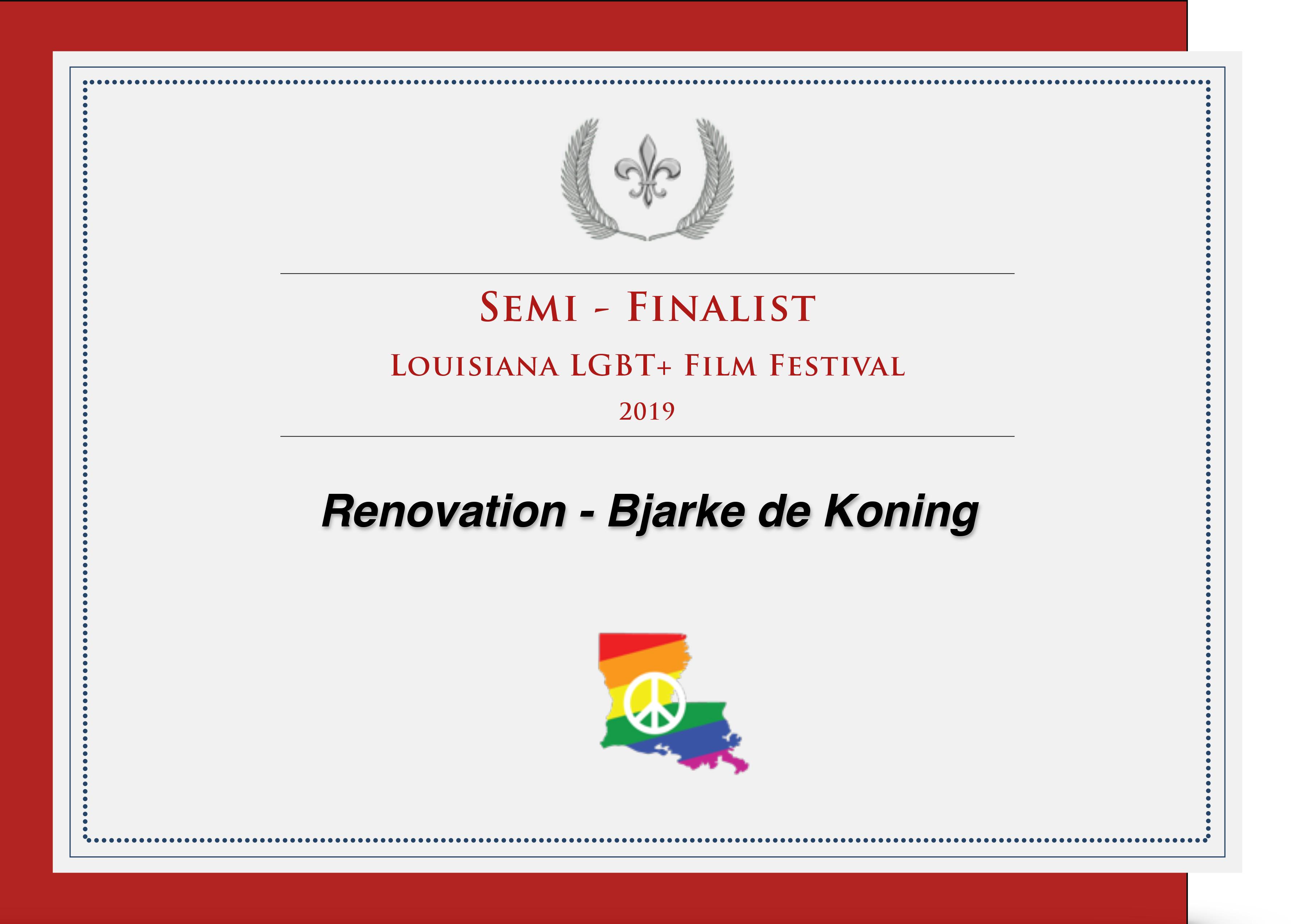 Semi Finalist at Louisiana LGBT+ Film Festival